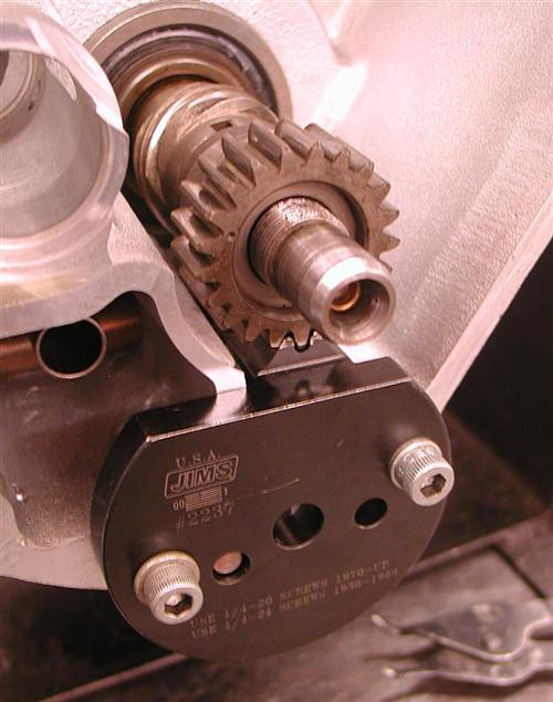 This JIMS tool hold the pinion shaft in place, so the nut can be tightened to 45 pounds without a problem.