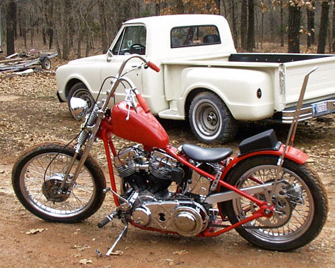 Bill's replica of David Mann's chopper.