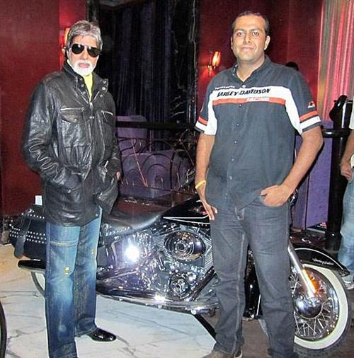 The Boss with a Indian Movie Superstar.