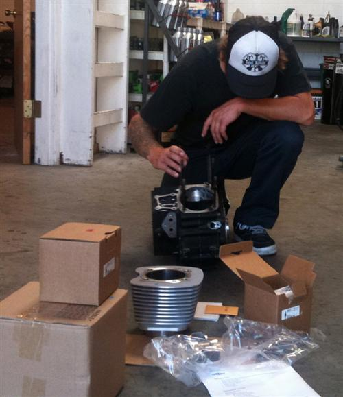 While the Branch team massaged the heads, Eric Bennett kept inventory of our parts rolling into his shop.