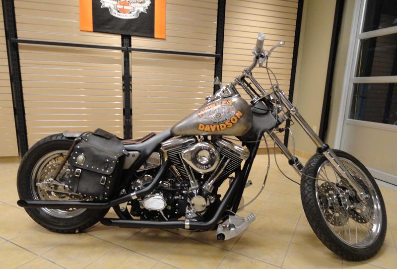 Harley Davidson And The Marlboro Man Bike At Loess H D On
