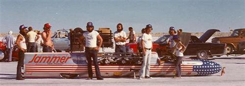 My first involvement with land speed racing, with Bob George. No, I'm not in this shot but Travis and Bob T. are. I was behind the scene, at that point.