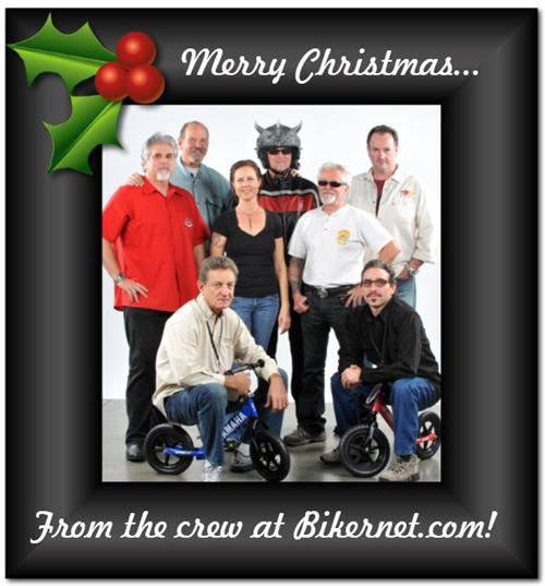 From the left: Jeff Najar - Marketing and Social Media, Da Janitor, Art Hall - International Editor on the bike, Nyla Olsen -CFO, The Triking Viking, Ray C. Wheeler - Performance Editor, Ben Lamboeuf -  Advertising Director, and Andrew Calagero,  -Shop and apparel manager