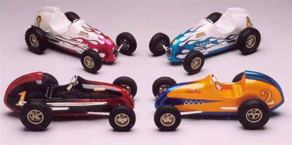 "Don's scale model ""Offy Sprint"" cars came with show quality pearl paint jobs."