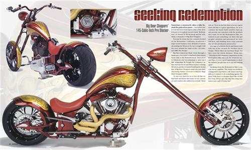 This is the Easyriders layout of the Big Bear Redemption in the issue about to hit the stands. Just a sneak peek.