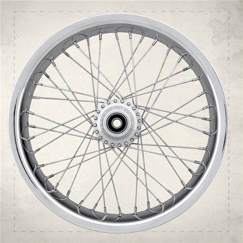 40-spoke wheel with Soft lip technology in the aluminum rim.