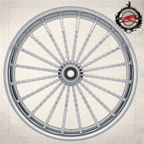 A billet straight spoked Twista styled wheel.