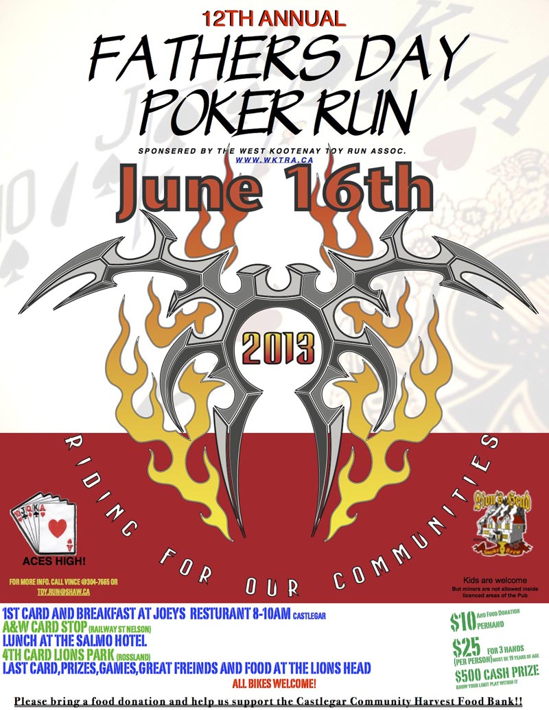 Oregon motorcycle poker runs