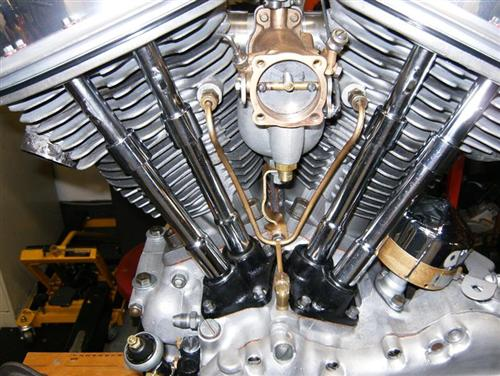 Shot of the Linkert carb. J&P carries complete rebuild kits. Just takes patience, like taking a watch apart.
