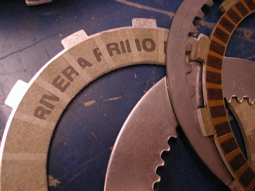 Check the difference in clutch plate surfaces--Amazing!