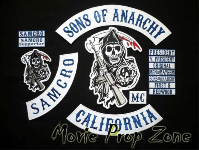 Motorcycle Club Patches Motorcycle Club Back Patch 15 piece official patch set found for sale on Internet
