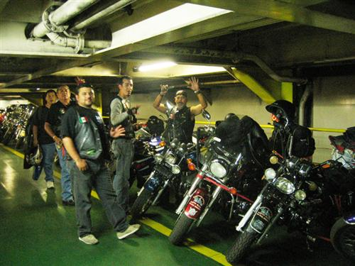 Bikes in cargo hold