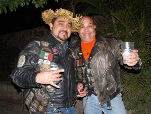 Horhay on the left - President of the Baja Bikers Motorcycle Club