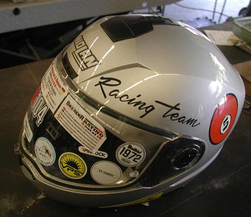 We worked with Biker's Choice and Nolan on our 5-Ball Racing helmets.