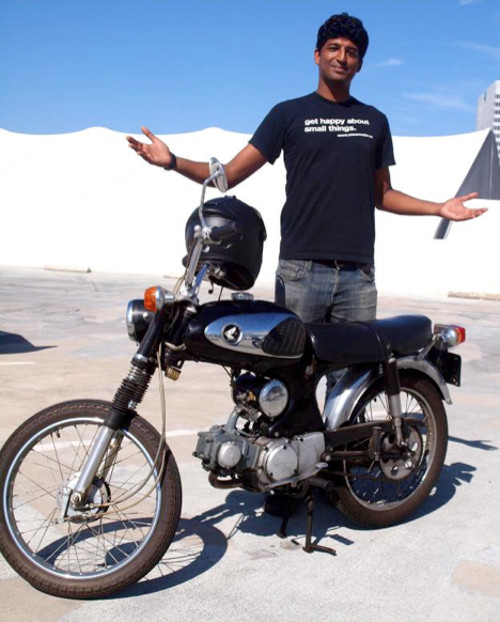 Abhi Eswarappa brought the 1967 Honda S90 for his girlfriend and like his T-shirt says….