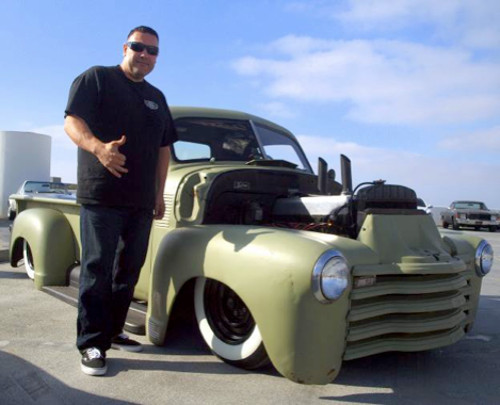 If you got bikes you need a truck to haul them…right…? Jessie brought his 1956 Chevy in military olive green.