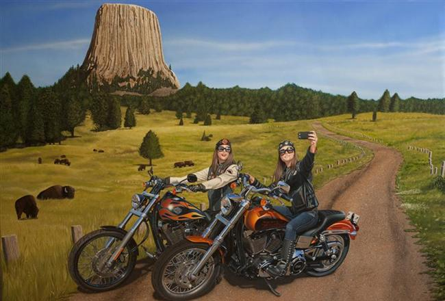 The Harley-Davidson 75th Sturgis licensed painting.