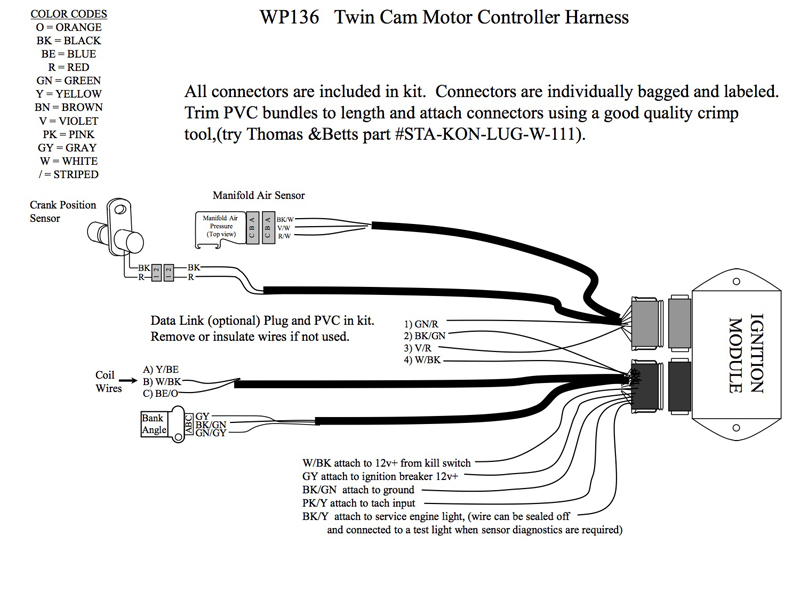 WP136 INSTALL SCHEMATIC REV.E bikernet tech the twevo configuration or stay with and s&s evo? 1990 Softail Wiring Diagram at virtualis.co
