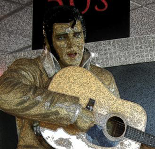 """Thank you…thankyouverymuch…,"" said an Elvis with a good natured grin that looked like a lopsided sneer…"