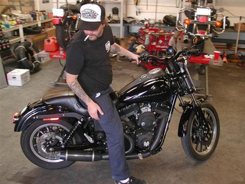 Eric, with his finished 106-inch Dyna. New FXR coming up...