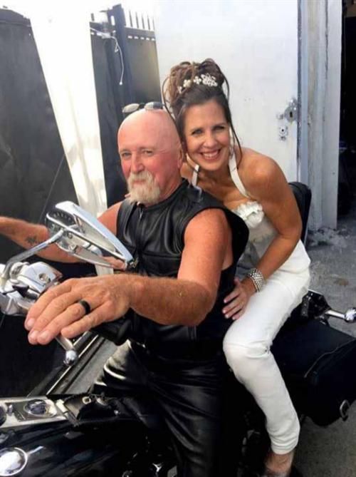 The perfect celebration of the perfect marriage: riding off on a timeless V-Twin.