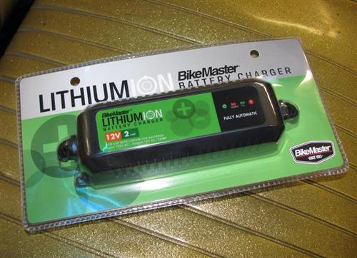 Here's a lithium specific charger from Biker's Choice.