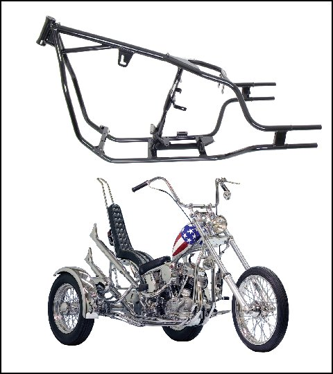Paughco Rigid Custom Trike Frames are Made in the USA