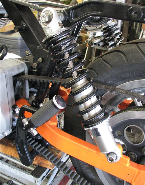 We also installed the latest Harley-Davidson adjustable 13-inch shocks.