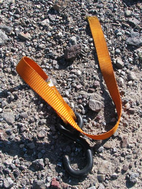 No, it's not a rattlesnake but just as dangerous. Mike Lichter recommends two straps on each side. He's experienced.