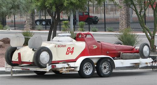 This hot rod was headed to Bonneville for Speed Week.