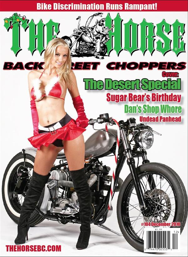 Not a bad way to start a Triumph Pipe article, on the cover of the Christmas 2010 HORSE. To subscribe, touch her gently.