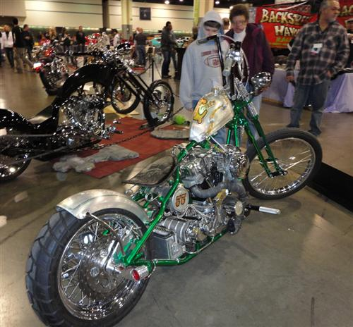 This cool ride was spotted at the ER show in Charlotte, N.C. by Mike, the Stealth Bikernet correspondent.