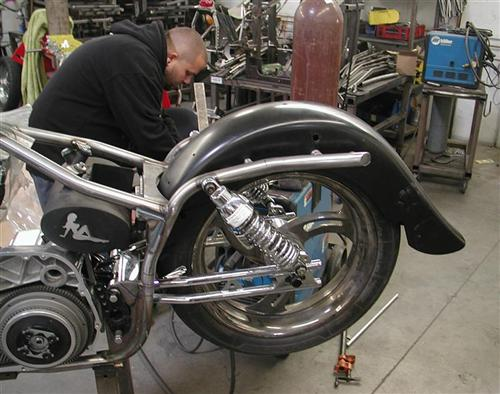 The Spitfire guys are building a roller with Frank's stuff and they added the Klockwerks heavy duty rear fender.