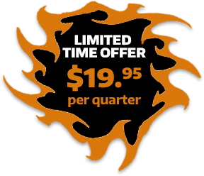 Limited Time offer - 19.95 per quarter!