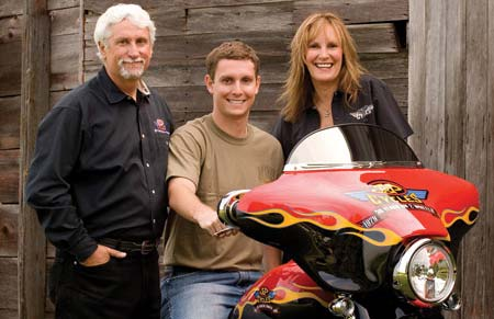 J&P® founder John Parham with wife Jill and son Zach