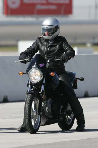 I started on the Buell Blast and having no previous track experience,