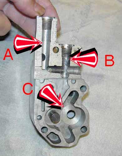 Photoid on Shovelhead Oil Pump