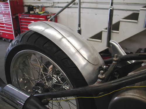 15 rear fender in place