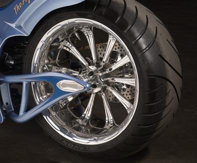 Processor rear wheel