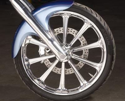 Processor front wheel