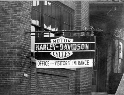 H-D factory sign