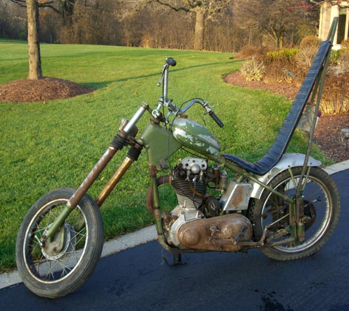 WILDEST CHOPPER OF THE WEEK This Is My Buddys 1948 500cc Single Norton Kewl Chopper Huh Its His Latest Restoration Project