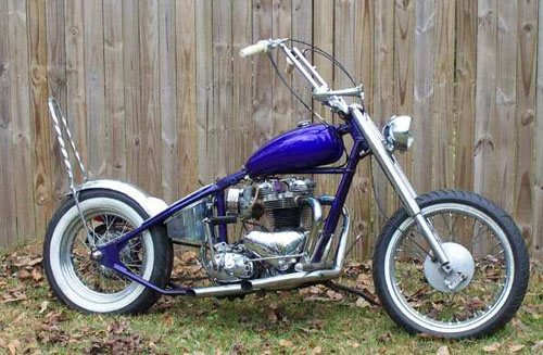 right cobalt blue bike
